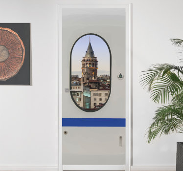 An original visual effect metro door sticker that is customisable with any image of your choice. All you need to do is provide the image you want.