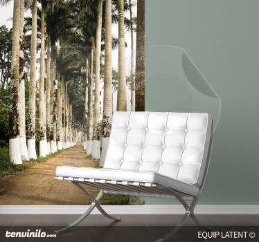 Vinilo decorativo camino palmeras