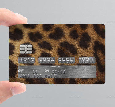 Get rid of the regular official design that comes with credit cards and decorate it with this  wild animal card vinyl sticker.