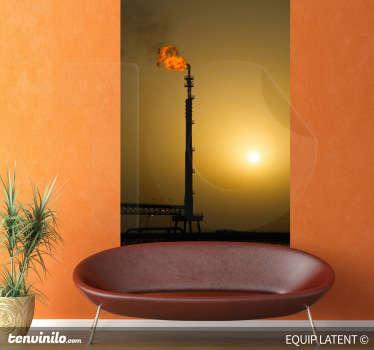 Vinilo decorativo contraluz petrolera