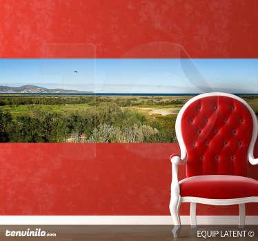 Photo murale plaine et montagne