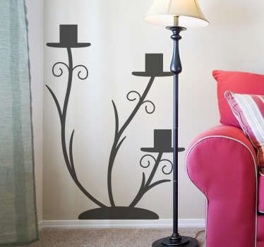 Sticker decorativo candelabro 5
