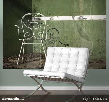 Vinilo decorativo silla pista frontón