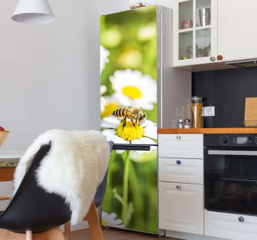 Decorate the door surface of a fridge with this flower field sticker. It is designed to cover the whole surface in customisable size.