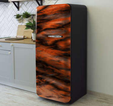 Decorative fridge vinyl wrap sticker with the design of  gradient marble. Easy to apply and customizable in size to fit any surface.