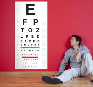 Sticker lezen oogtest