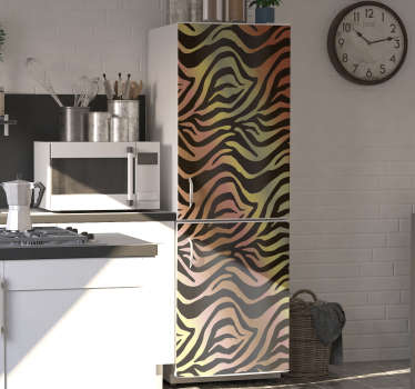 This fabulous vintage zebra fridge sticker will change your kitchen so much that you will want to spend all your time in this room!