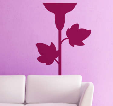 Sticker of a classic candelabra with leafs. Elegant decal to decorate your home. Give your home an original look.