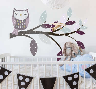 Buy our quality vinyl children wall sticker design of Nordic animal with bird on it. Choose it in the size measurement of your choice.