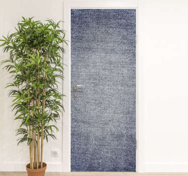 Decorative Denim textured door sticker design to cover the whole surface of a door in the home or office space . Customisble to fit any space.