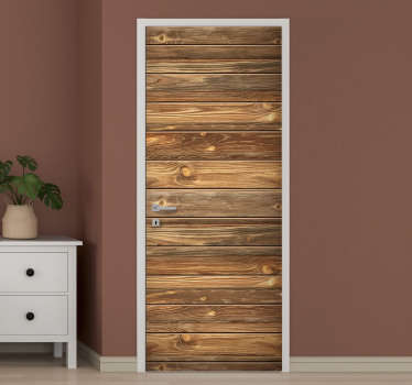 An original old wood texture door sticker to decorate the door surface in the home. Can be applied on any of the door. You can have it in any size.