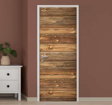 Um autocolante original de porta de textura de madeira antiga para decorar a superfície da porta em casa. Pode ser aplicado em qualquer porta. pode tê-lo em qualquer tamanho.