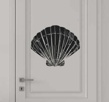 Buy our decorative vinyl door sticker design of marine shell available in about 50 different colours to choose from.Easy to apply on any flat surface.