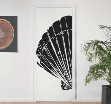 Decorative door sticker design of a marine shell to beautiful it in the colour of your choice. Available in 50 different colours to choose.