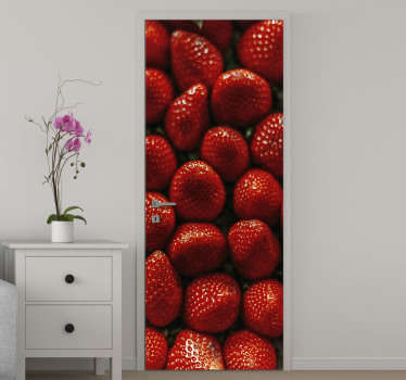 Strawberry door sticker for kitchen door decoration. We have it in different sizes and it can be customized to fit any space of choice.
