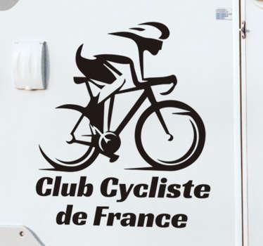 Un sticker personnalisable que vous pouvez placer sur votre voiture. Remplissez le nom de votre club dans le champ de texte fourni afin d'avoir un sticker personnalisé.