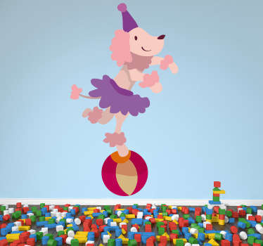 Circus Poodle Wall Sticker