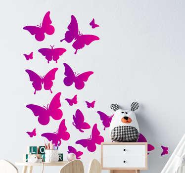 Doutorado no espaço doméstico com esta incrível autocolante de borboleta em produtocolorido. Pode ser aplicado da maneira que deseja.