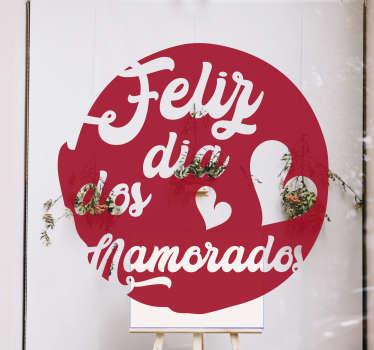 Fantástico autocolante para montras de S. Valentim para decorar a montra da sua loja no próximo dia dos namorados.