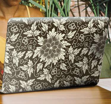 Vinilo para portátil de flores para decorar de forma original su ordenador. Cómprelo en la dimensión que corresponda con su portátil..