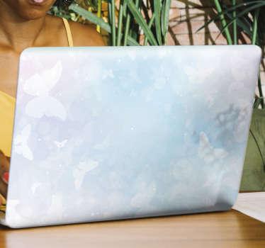 Versier het oppervlak van de laptop met deze geweldige fantasie vlinders laptop vinyl zelfklevende sticker. Gemakkelijk aan te brengen op een plat oppervlak.