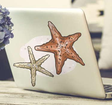 Vinilo decorativo para portátil con el diseño de peces estrella de mar en colores increíbles. Cómprelo en el tamaño preferible para usted.