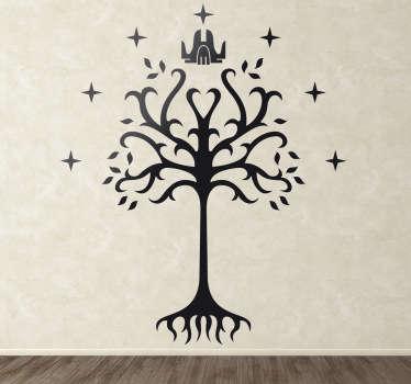 Vinilo decorativo árbol de Gondor