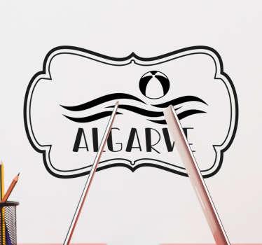 """Um vinis decorativos de lugares com o texto """"Algarve"""", o nome da região sul de Portugal, para decorar qualquer superfície da casa ou empresa."""