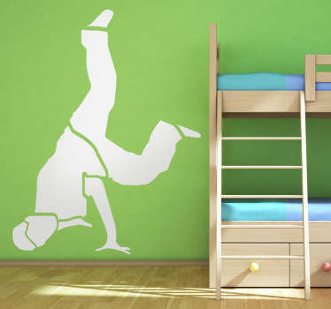 Sticker decorativo silhouette break dance