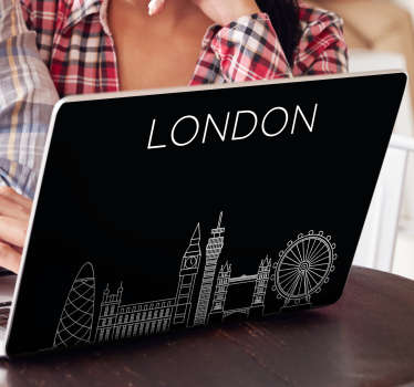London city structure laptop vinyl sticker to decorate any laptop. Buy it in the size that is best for you. Easy to apply.