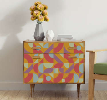 Decorative retro colorful  furniture decal to beautify the surface of any furniture in the home. Choose the size that is best for the surface.