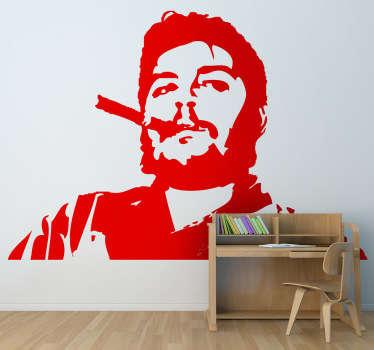 Adhesivo retrato Che Guevara con puro