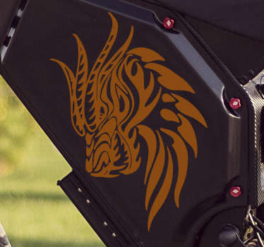 Dragon head motorcycle sticker design available in different colour options . buy it in the size that is best for the surface to apply it.