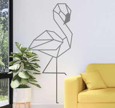 3d-tekening van een flamingo wall art zelfklevende sticker voor een woonkamer decoratie. Koop het in de maat en kleur naar keuze uit de lijst met beschikbare opties.