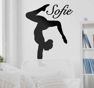 Personalisable name dance wall art sticker available in different colours and sizes. Provide the name needed on the design.