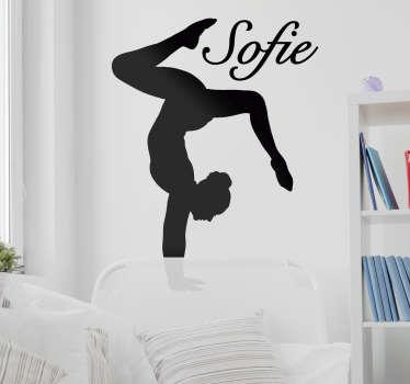 Personalizzabile adesivo da parete per danza nome disponibile in diversi colori e dimensioni. Fornire il nome necessario sul design.