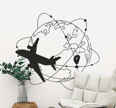 Travel and adventure wall art sticker to beautify any wall space in the home or in the office. Choose the best suitable size ans colour of desire.