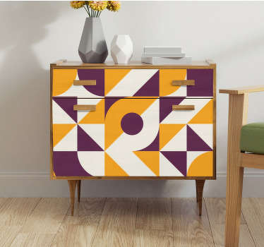 An abstract furniture vinyl sticker to cover the surface of the furniture in the home. Buy it in the size that is suitable for the space you have.