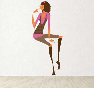 Vinilo decorativo chica con glamour 9