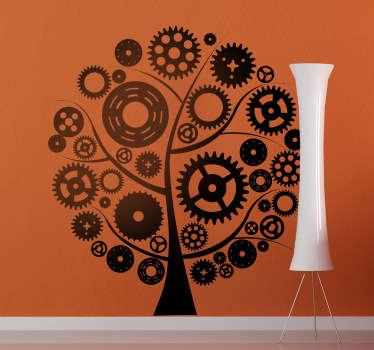 Sticker decorativo albero degli ingranaggi