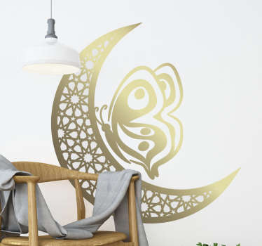 Decorative home wall sticker with the design of stars and butterfliy in an aesthetic texture and style. Available in different sizes.