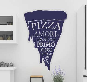 Adesivo murale per pizza da cucina disponibile in diverse dimensioni per decorare lo spazio della cucina in uno stile unico a tema alimentare.