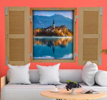 Izvirno oblikovanje nalepk za stene z nalepkami jezera v 3d. Na voljo v poljubni velikosti. Zaradi kakovosti vinil ga je mogoče enostavno uporabiti.