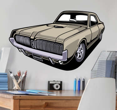 Original mustang car wall vinyl decal to decorate a home. Easy to apply and the size can be chosen in any dimension. High quality vinyl.