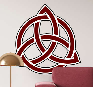 Decorative red triglav wall sticker created with the original representation symbol of the slovic tribe. Easy to apply. Choose a suitable size.
