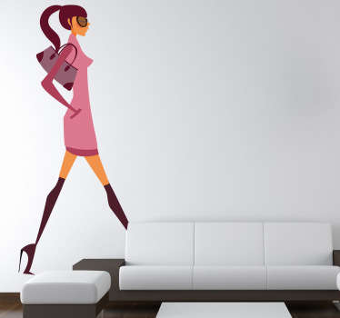 Wandtattoo Fashiongirl