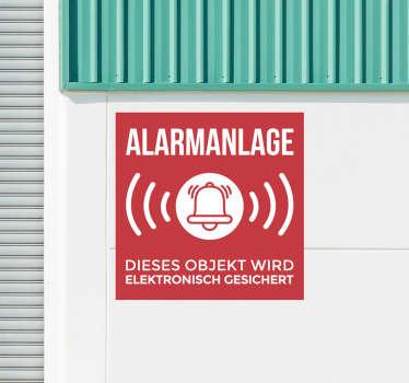 Ein ikonischer Aufkleber für das Alarmsystem aus bestem Vinylmaterial. Einfach aufzutragen und selbstklebend. Wählen Sie die gewünschte Größe.