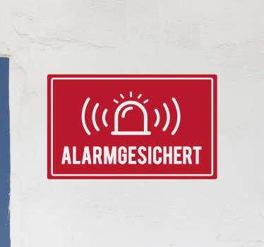Ein ikonischer Alarm-Glocken Aufkleber zum Anbringen an Tür- und Wandflächen in Unternehmen, Werkstätten und Fabriken für Notfälle. Einfach anzuwenden.
