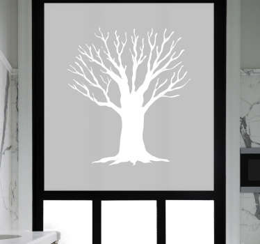 Decorative window sticker for bathroom with the design of a sketched tree. Available in different colours and sizes. Easy to apply.