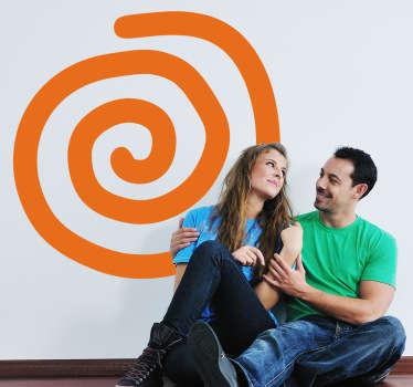 Sticker decorativo spirale